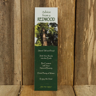 Advice From A Redwood Bookmark