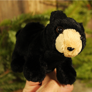 Black Bear Finger Puppet