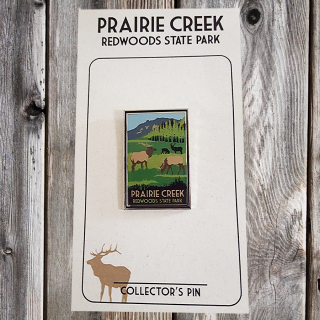 Prairie Creek Redwoods Elk Pin WPA Style