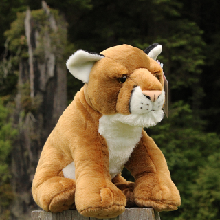 Large Plush Mountain Lion