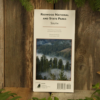 Redwood National and State Parks Trail Map, South. Covers Redwood National Park and Humboldt Lagoons State Park. Scale of 1:25,000