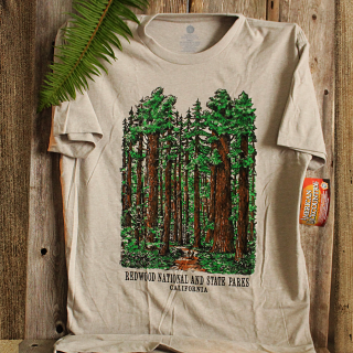 Redwood National and State Parks Panoramic Tee Shirt